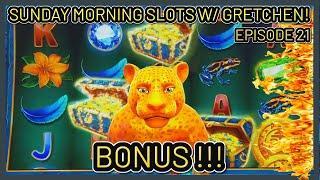Ultra Hot Mega Link Amazon Slot Machine $10 Bonus SUNDAY MORNING SLOTS WITH GRETCHEN EPISODE #21