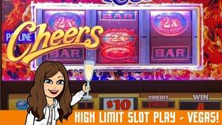 High Limit Slot Machine Live Play - RED HOT 7s RESPIN & DOUBLE 3X4X5X TIMES PAY - LAS VEGAS!