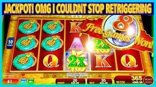 JACKPOT! OMG I COULD NOT STOP RETRIGGERING | OVER 50 SPINS | HIGH LIMIT |
