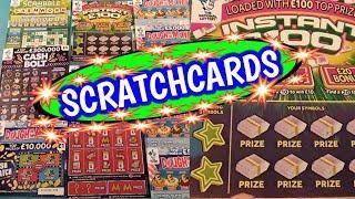 Scratchcards..INSTANT £100..Dough me Money..MONOPOLY..SCRABBLE. Cash Match..