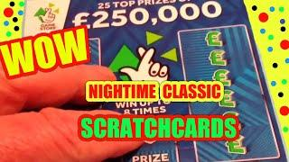 SCRATCHCARD.classic.FAST £500..250,000 BLUE..RUBIK'S.. MILLIONARE 7s...9X LUCKY..WHoooooOOOOO.....
