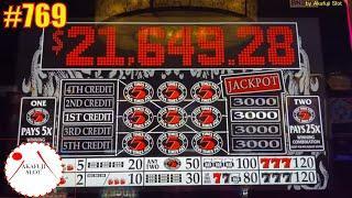 High Limit Lightning Cash Sahara Gold Slot  Black & White 5 Times Pay Slot 3 Reel - Max Bet 赤富士スロット