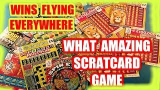 """AMAZING  SCRATCHCARD GAME""""WINS""""POPPING EVERYWHERE.& WE GIVE PRIZES TO HIGHEST(VIEWERS  NAMES ON BACK"""