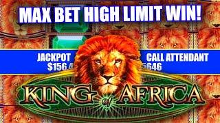 HIGH LIMIT KING OF AFRICA SLOT MACHINE  HUGE BONUS JACKPOT WINS  MASSIVE HAND PAY