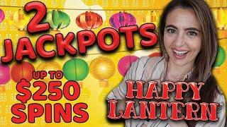 2 JACKPOT HANDPAY's Up To $250/SPIN on LIGHTNING LINK Slot Machine in VEGAS!