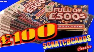 £100 worth.of £5 Scratchcards..FULL £500's...WINNING 7's...CASH SPECTACULAR ....mmmmmmMMM..says