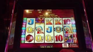 Good win 10C Denom Aristocrat Oldie Boot Scootin Free Spins bonus slot machine pokie