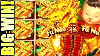 WINNING!! GOOD FORTUNE HAS ARRIVED!  FU NAN FU NU & SCREAMING LINKS Slot Machine (AGS)