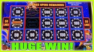 HUGE WIN CAN'T STOP WINNING! MY BEST RUN ON HIGH STAKES LIGHTNING LINK SLOT MACHINE