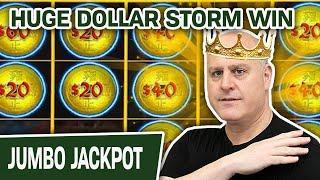 HUGE Dollar Storm HANDPAY  KING RAJA Takes Down the EMPEROR in Emperor's Treasure