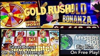 GOLD RUSH! Buffalo Gold Revolution Hits AC + Winning Big on Free Play on Gold Bonanza!
