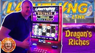 •DRAGON'S RICHES BIG WIN! •Is This My New Favorite Lightning Link? | The Big Jackpot