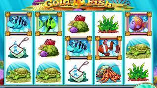 GOLD FISH Video Slot Casino Game with a PICK A BUBBLE BONUS