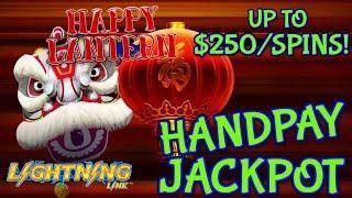 Lighting Link Happy Lantern HANDPAY JACKPOT ~ HIGH LIMIT $125 Bonus Round Slot Machine Casino