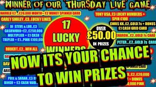 SCRATCHCARD GAME..FINAL..THE DRAW...PRIZES..