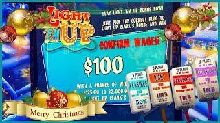 Merry Christmas HIGH LIMIT National Lampoons Christmas Vacation $56 Spins & $100 Buy A Bonus Slot