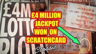 £4.MILLION  SCRATCHCARD  WINNER...BUT THEY STOLE A CREDIT CARD TO PAY FOR IT..