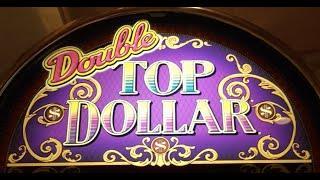 *HIGH LIMIT* Double TOP DOLLAR LIVE PLAY Slot Machine Pokie at Harrahs, Las Vegas