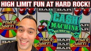 HIGH LIMIT FUN AT Hard Rock Sacramento!!! |  DANCING DRUMS!! | WHEEL OF FORTUNE