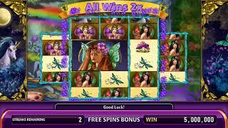 GOLDEN UNICORN Video Slot Casino Game with an ENCHANTED MEADOW FREE SPIN BONUS