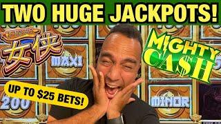 Two incredible JACKPOTS on High Limit Mighty Cash Nu Xia @ Atlantis Casino in Reno!!!