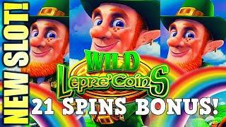 NEW SLOT! FINALLY GOT THE BONUS! WILD LEPRE'COINS GOLD RESERVE Slot Machine (Aristocrat Gaming)