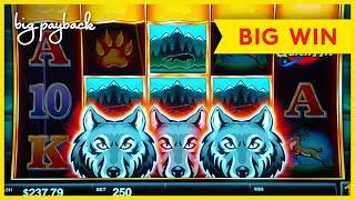 GREAT SESSION, LOVE IT! Quick Hit Wolf Mountain Slot - BIG WIN!