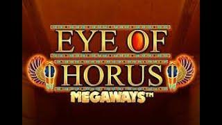 PART 1 OF 2.  MEGA LINE HIT HORUS MEGAWAYS!!  TOP SYMBOL & 3 WILDS,. PART 2 IS 4 WILDS AND MASSIVE!!