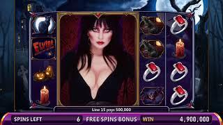 ELVIRA: MISTRESS OF THE DARK Video Slot Casino Game with an ELVIRA FREE SPIN BONUS