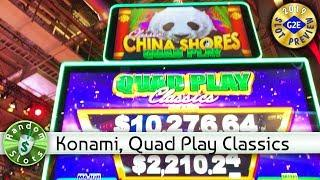 Quad Play Classics China Shores  slot machine preview, Konami, #G2E2019