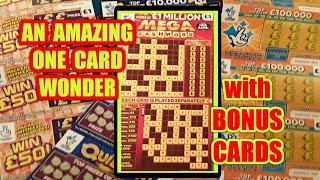 What a.....One Card Wonder Game...With plenty of BONUS Scratchcards..WHoooooOOOOO