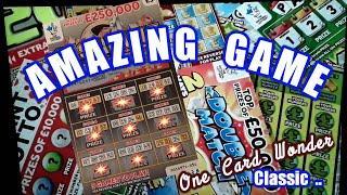 Super Scratchcard  Game.One Card Wonder with Bonus cards mmmmmmMMMsays Lulu