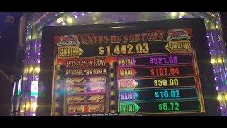 Konami Gates of Fortune Slot Machine - Live Play & Bonus