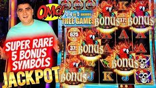 SUPER RARE 5 Bonus Symbol HANDPAY JACKPOT ! $1,000 Challenge To Beat The Casino | EP-18