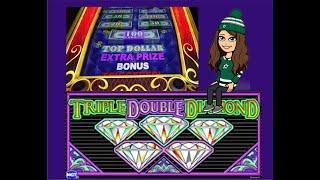 $20-$25 Bets - Triple Double Diamond Slot Machine & Top Dollar - High Limit Live Play!
