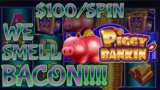 Lock It Link Piggy Bankin' MASSIVE HANDPAY JACKPOT HIGH LIMIT $100 BONUS ROUND Slot Machine Casino