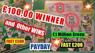 •️Wow•LOOK What a WIN on Scratchcards•Amazing•Fast £500•Fast £200•Payday•£1Mil.Green•classic•