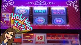 DOUBLE DIAMOND/DOUBLE TOP DOLLAR, 3x4x5x and TRIPLE STRIKE, High Limit Slot Play - Las Vegas!