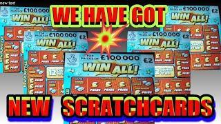 """NEW """"""""WIN ALL! """"""""Scratchcards. REDHOT BINGO"""" MONOPOLY"""" WONDERLINES"""