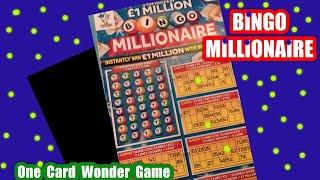 Tonight..its...Bingo millionaire Scratchcard game....One Card Wonder