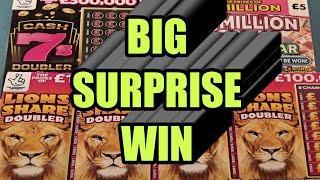 "SHOCK BIG WINNER..""CASH 7s DOUBLER"" LION DOUBLER""SPIN £100""£500,000 GREEN""WADS WALLET"