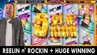 HIGH LIMIT on Reelin N' Rockin  Chumba Casino