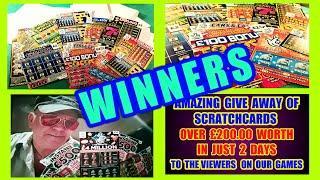AMAZING WINNERS....£200.00 SCRATCHCARDS...WhooooOOOOOOO