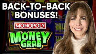 How Much Money Can I Grab!? First Time Playing The NEW Monopoly Money Grab Slot Machine!!