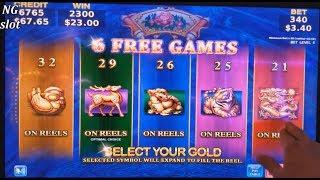 WEALTH OF DYNASTY Slot Machine MAX BET Bonuses Won ! Live Slot Play