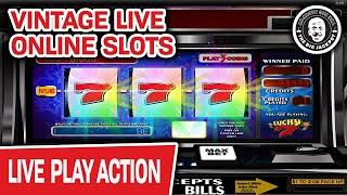 VINTAGE Live Online Slots  MASSIVE Lucky Sevens Win? Sure Hope So!