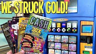 We Struck GOLD w/ BIG $00's  $50 Millionaire Club  $150 TEXAS LOTTERY Scratch Offs