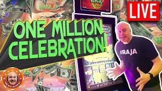 1 Million Celebration!  Surprise LIVE Slot Play!  The Big Jackpot