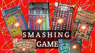 FANTASTIC GAME...TRIPLE JACKPOT..£100 LOADED..INSTANT £100..CASH BOLT..CASH LINES..SCRABBLE CASHWORD