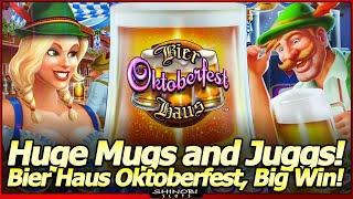 Bier Haus Oktoberfest Slot - Heidi drops HUGE Mugs in Big Win Free Spins Bonus